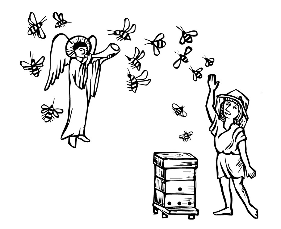 The sound of bees is music from the angels