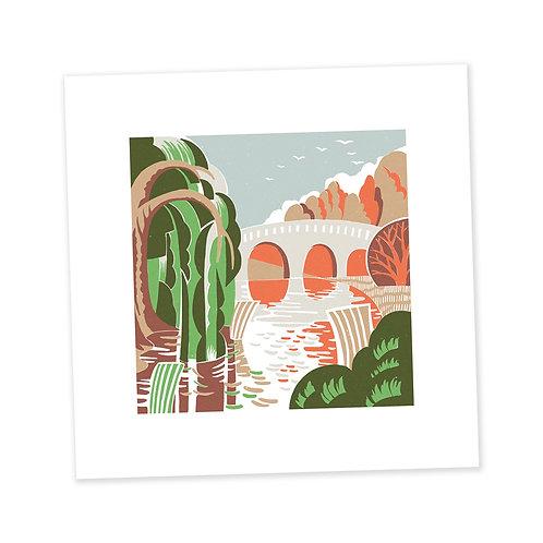 Autumn Bridge print