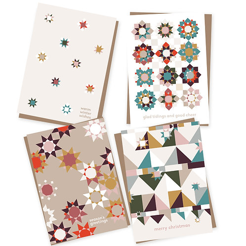 Quilt Stars Charity Christmas cards