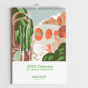 2020 calendar of vintage landcapes