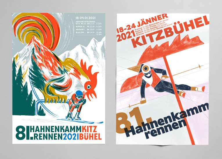 Hahnenkamm ski race posters
