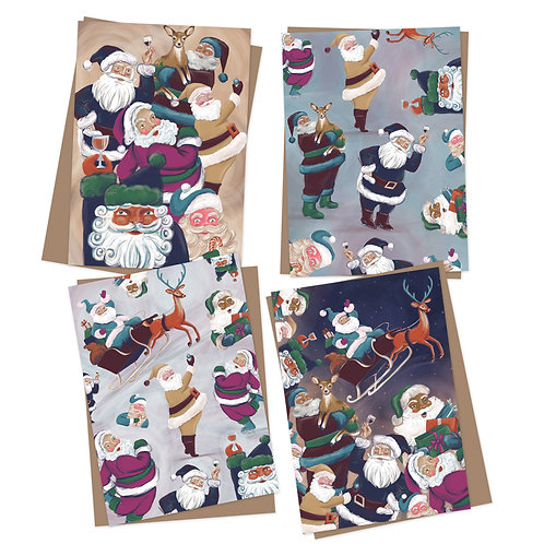 Santa Party Charity Christmas cards