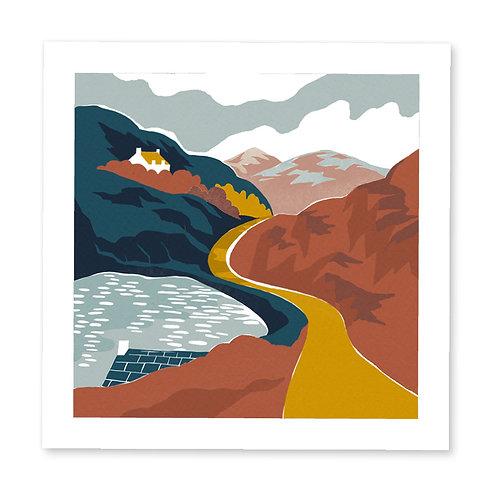 Golden Road print