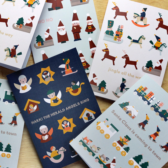 Ginette-Guiver_Christmas-Toy-Town-cards.