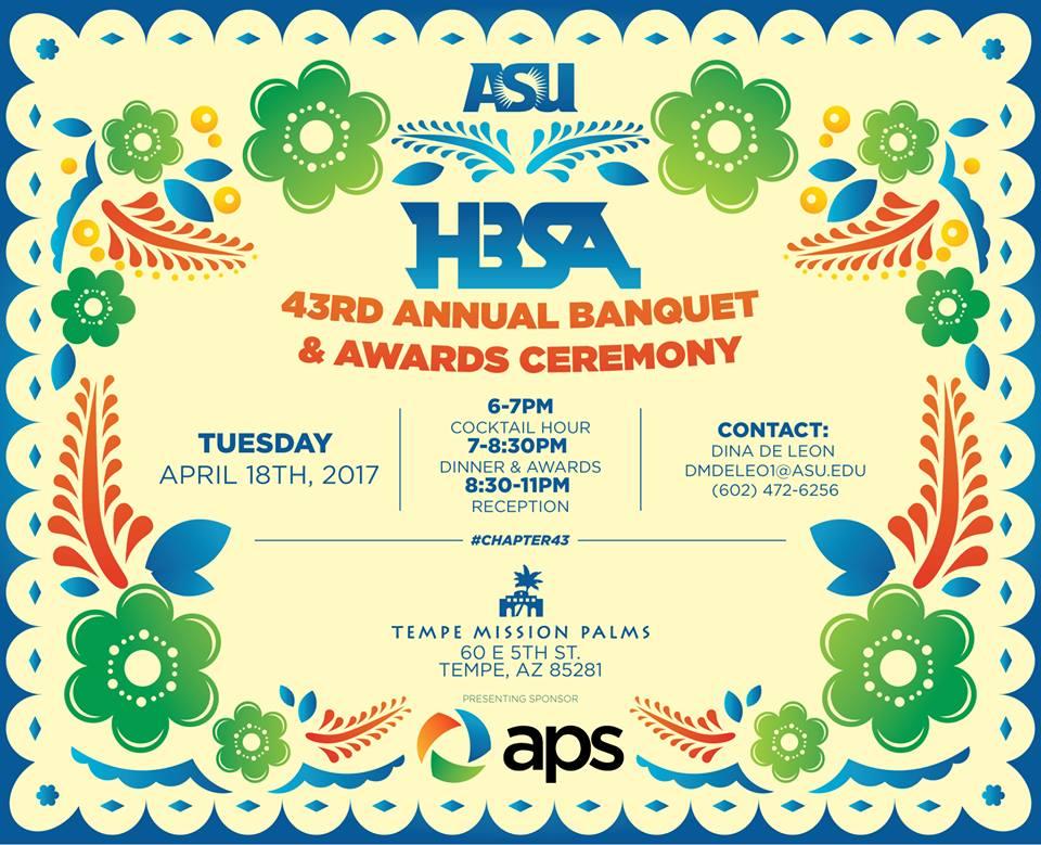 HBSA 43rd Banquet Flyer
