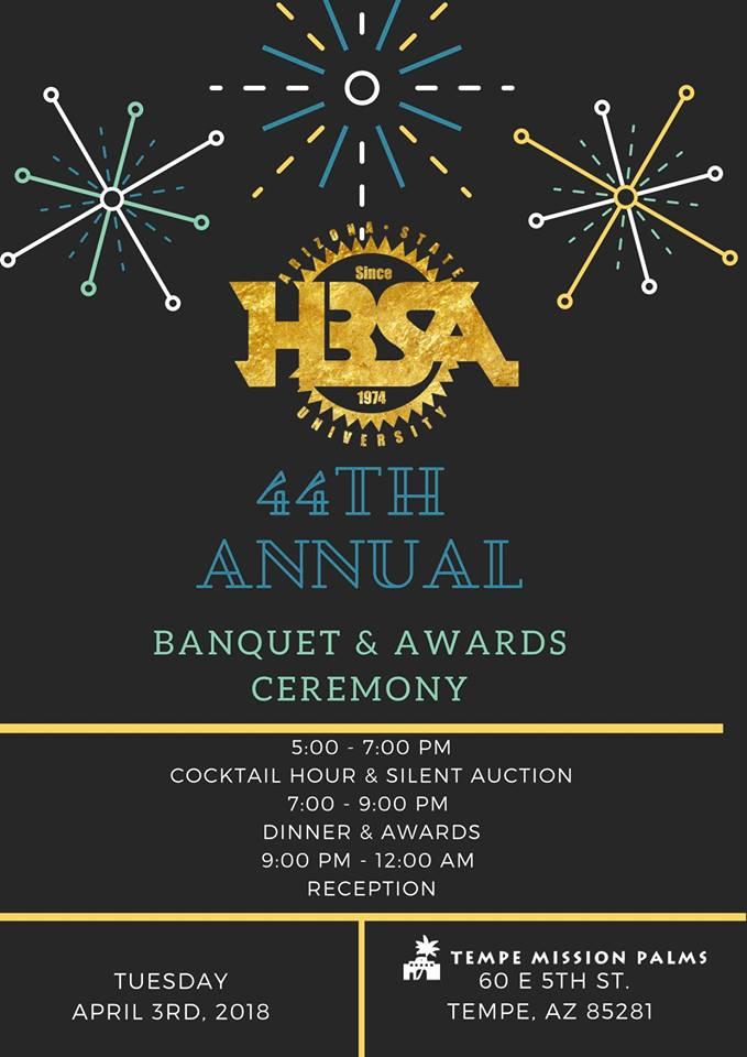 HBSA 44th Annual Banquet Flyer