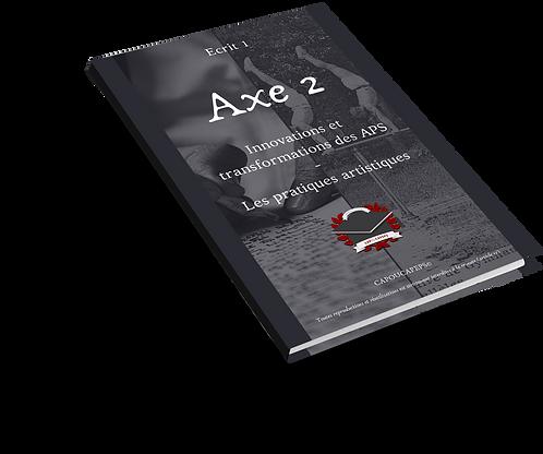 Axe 2 : Innovations et transformations des APS - Pratiques Artistiques