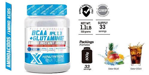 BCAA + GLUTAMINE  HX NUTRITION 500 Gr