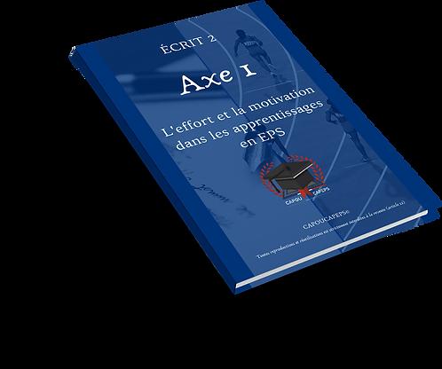 Axe 1 : L'effort et la motivation dans les apprentissages en EPS