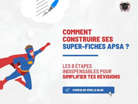 Comment construire ses super-fiches APSA ?