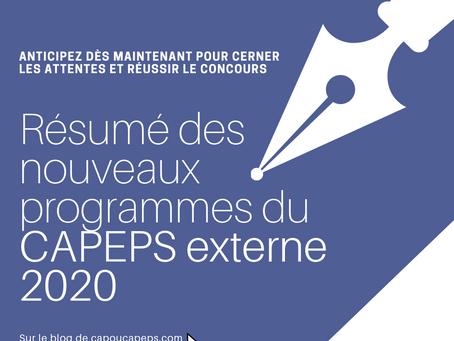 Nouveaux programmes du CAPEPS 2020