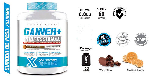 GAINER + HX NUTRITION 3 kg