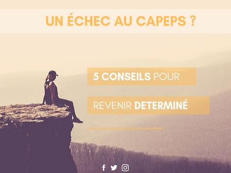 Un échec au CAPEPS ? 5 conseils pour revenir déterminé