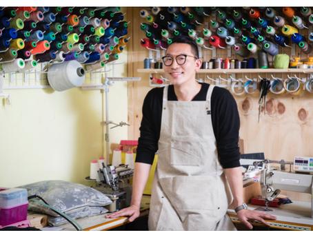 [인터뷰] 자투리 천 안 남게 옷 디자인 … 가방 겸용 앞치마도 만들죠