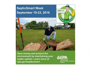 Its Septic Smart Week - What are you doing to maintain your Septic System?