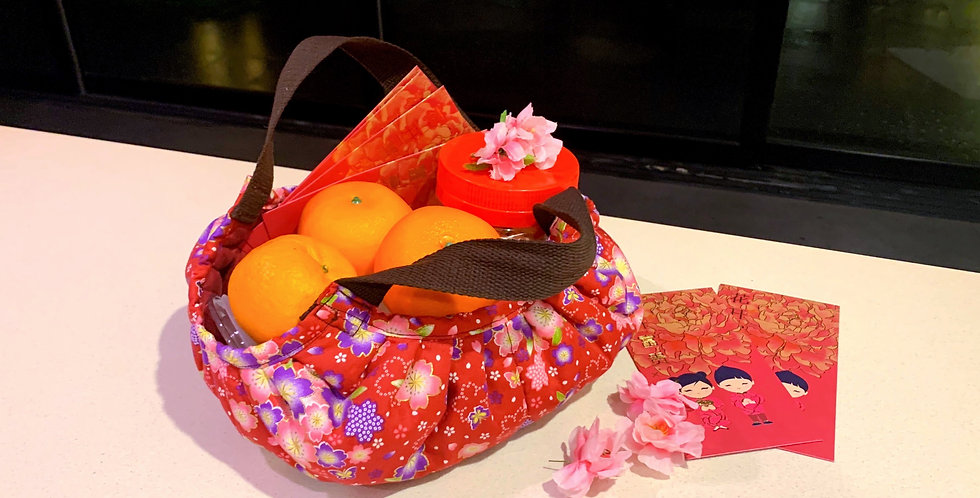 CNY Orange Bag (padded and lined)