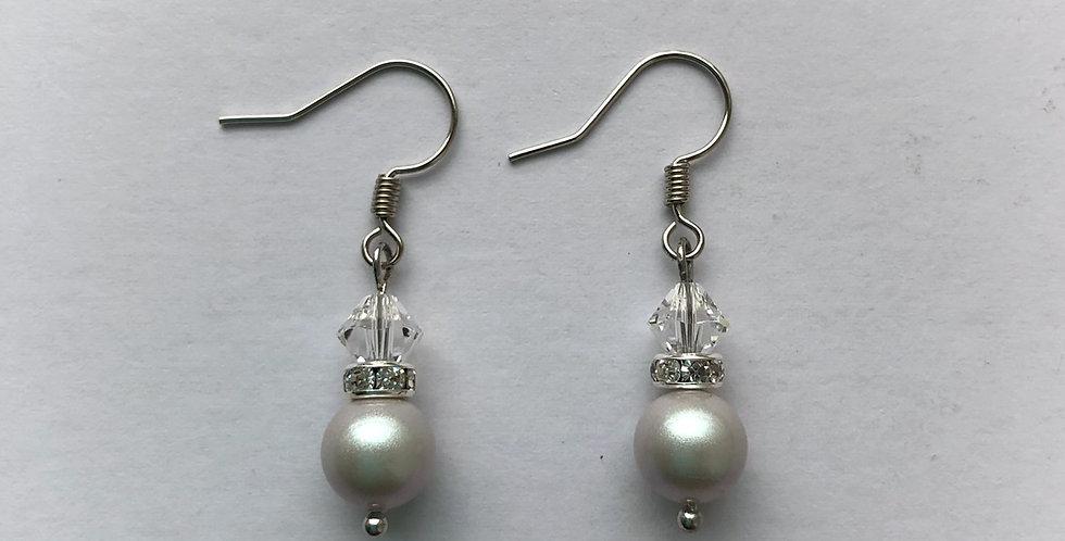 Swarovski Pearl and Crystal Beads Earrings