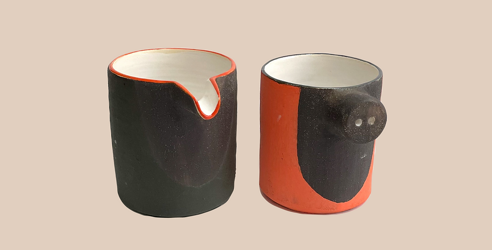 Stoneware Jugs (a pair)