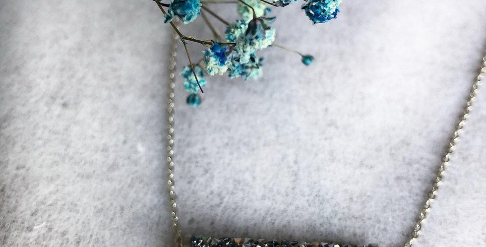 Swarovski Fine-Rocks 30mm Tube Crystal Short Necklace