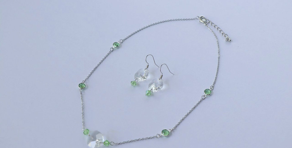Swarovski Birthstone Short Necklace and Earring Set