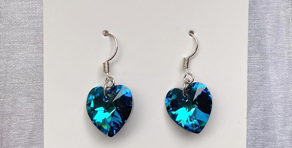 Swarovski Heart Earring