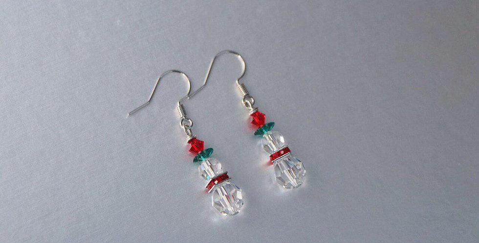 Swarovski Snowman Earrings