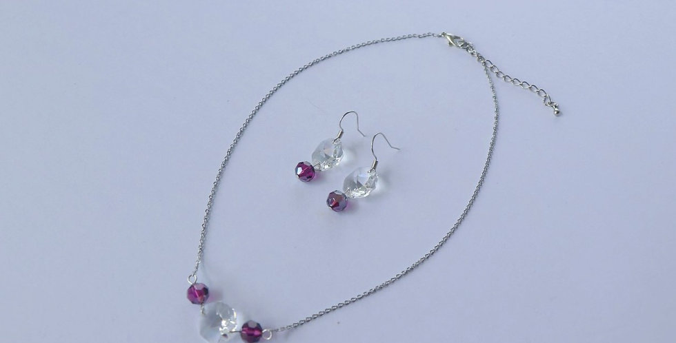 Swarovski Short Necklace and Earring Set