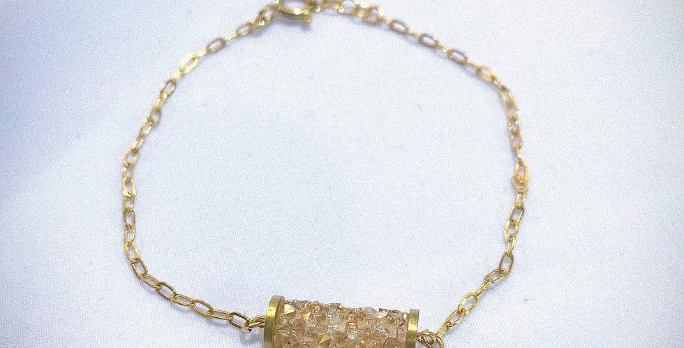 Swarovski Golden Crystal with Gold-filled* Bracelet