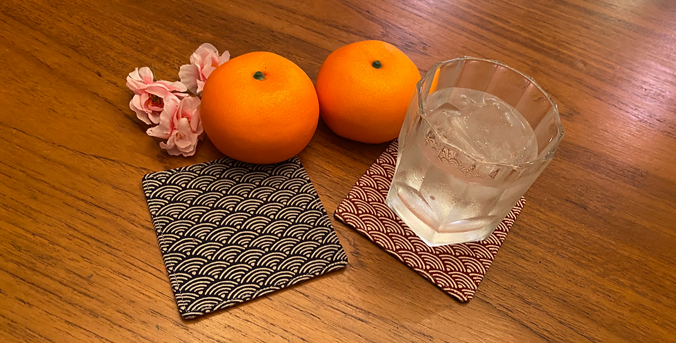 Reversible duo-coloured Coasters (set of 4)