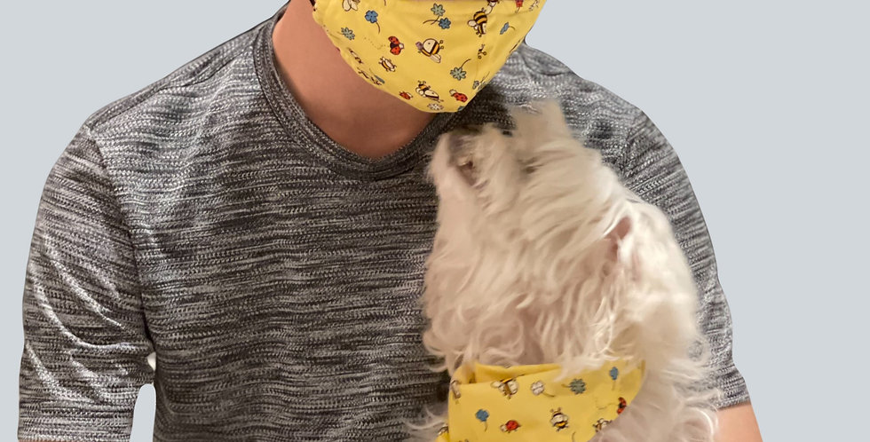 Bandana with matching face mask set