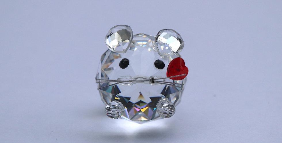 Crystal Rat Ornament