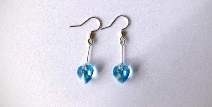 Swarovski Heart Drop Earrings