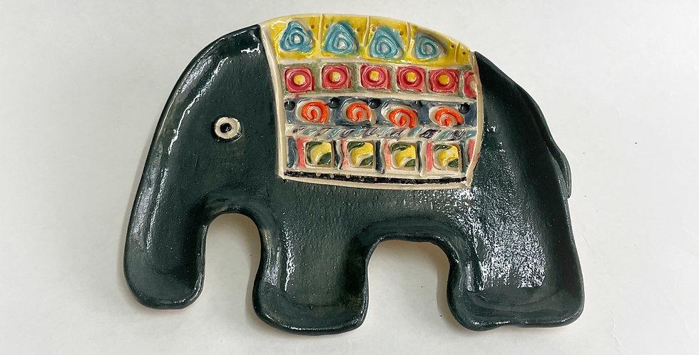 Ceramic Elephant Plate