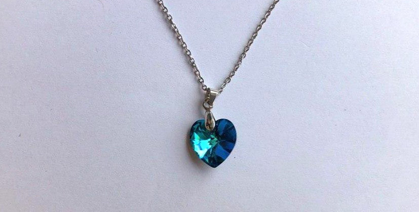 Set of Swarovski Heart Necklace and Earrings