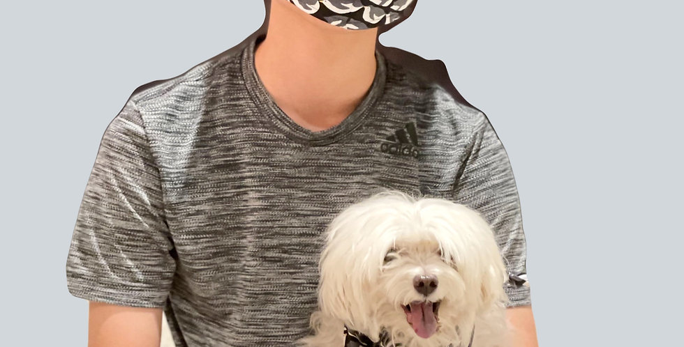Pet Bandana with matching face mask set
