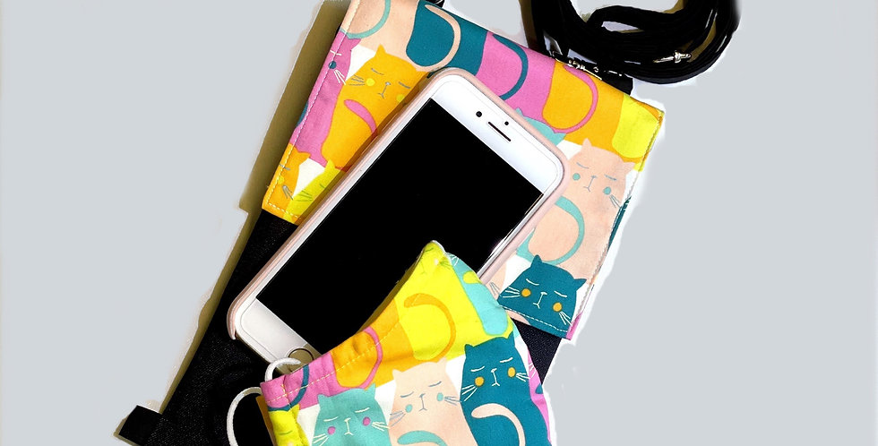 Handphone Pouch with Matching Mask
