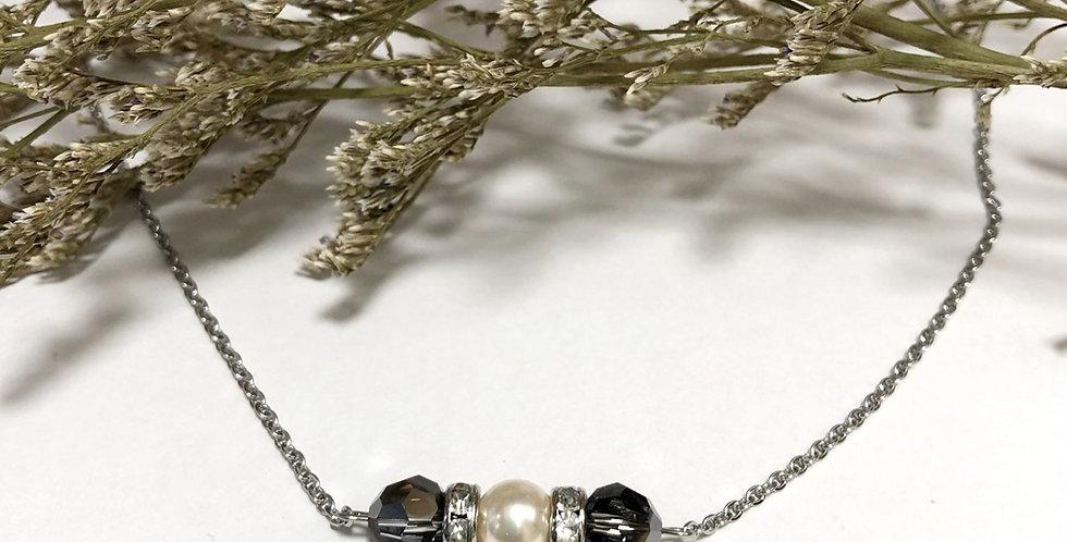 Swarovski Crystal with Pearl Necklace set