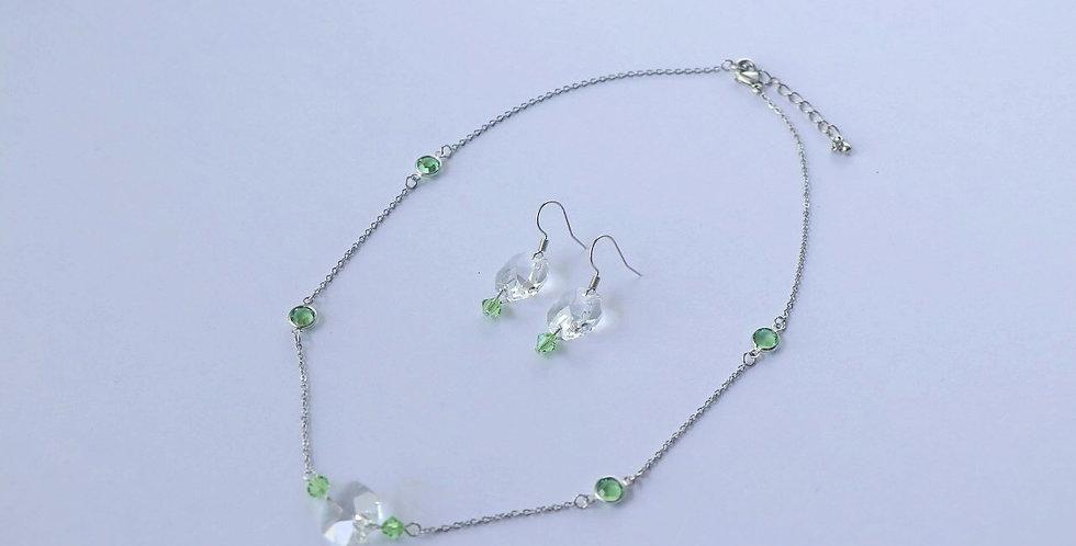 Swarovski Birthstone Short Necklace and Earring Set