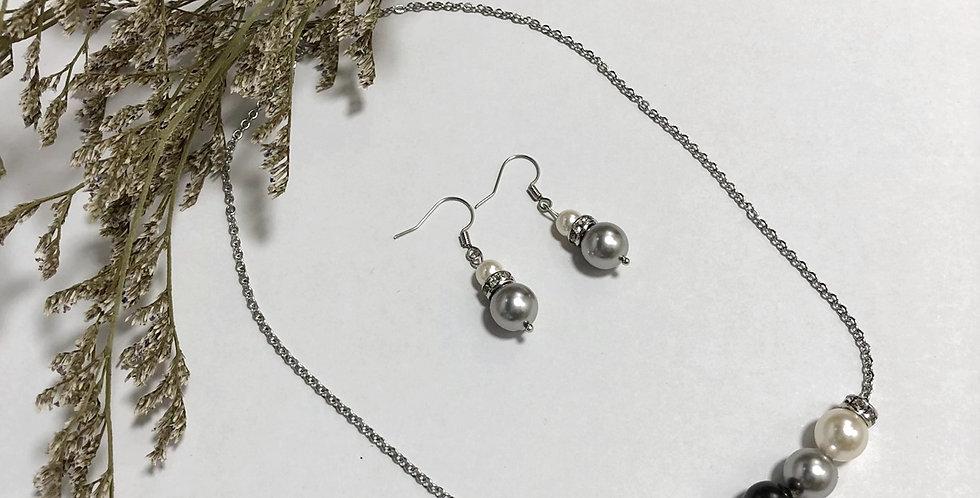 Swarovski 5-Pearls Necklace set