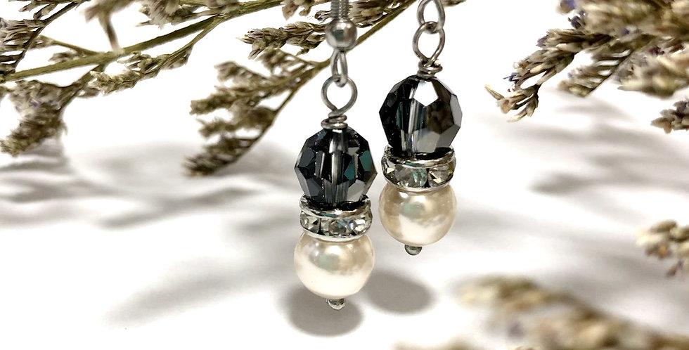 Swarovski Cream Pearl with Crystal Earring
