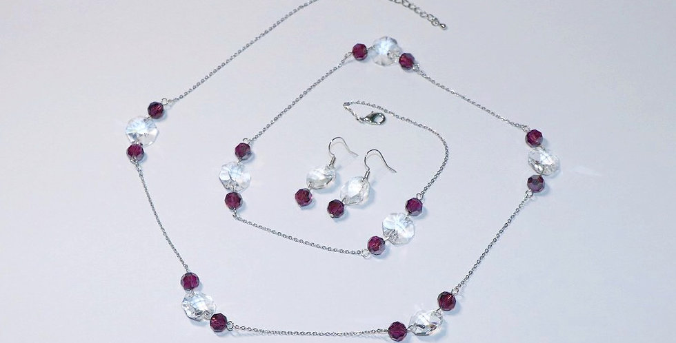 Swarovski Long Necklace and Earring Set