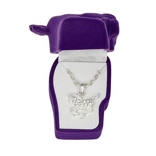 JN896CL Clear Precious Pony Necklace