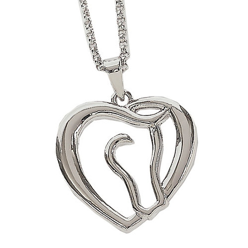 JN6803 Horse Head and Heart Necklace
