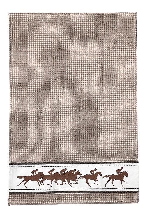 Beige Racing Horse Towel