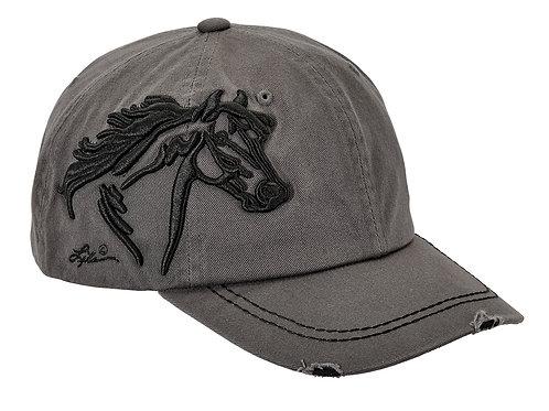 AC113GR Grey 3-D Horse Head Cap