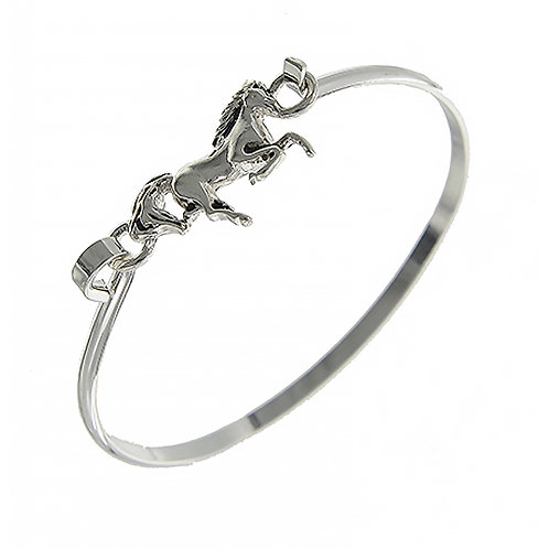 Galloping Horse Bangle Bracelet