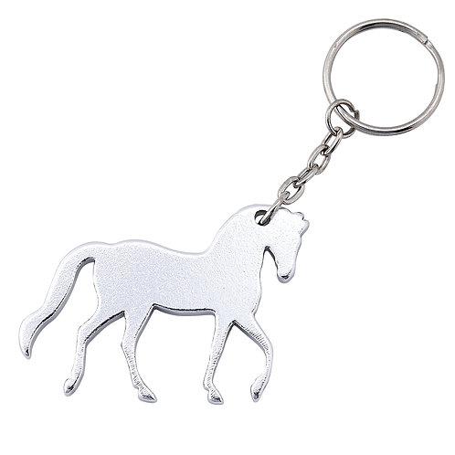 GG828SI Silver Prancing Horse Key Chain
