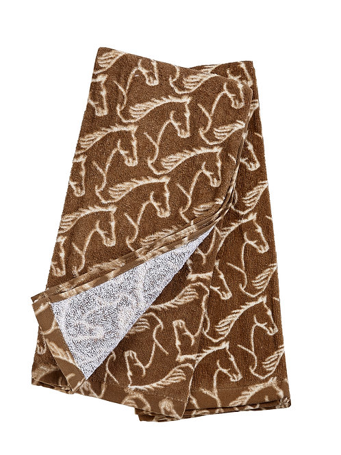 Horse Head Velour Terry Towels - Set of 2