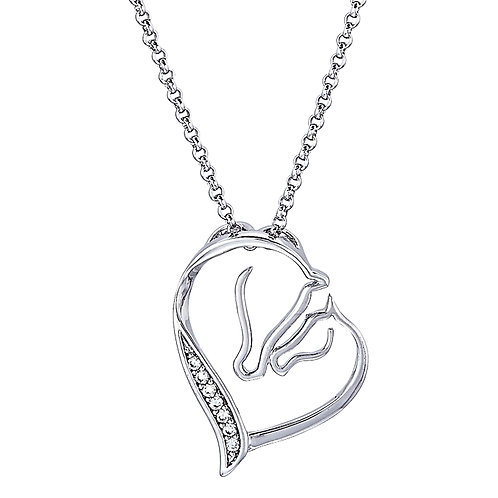 """""""Nose to Nose"""" Mare & Foal Necklace"""