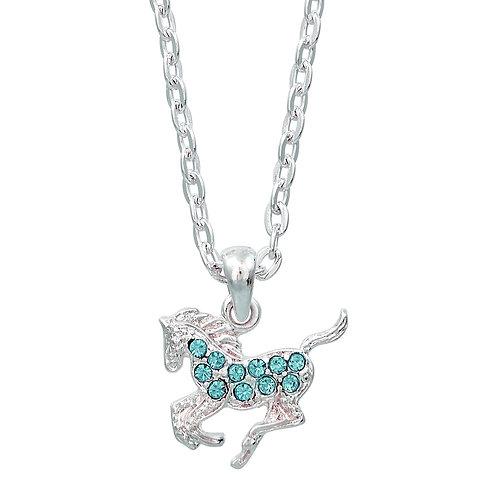 JN896AQ Aqua Precious Pony Necklace